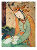 Woman Writing in the Court of Shah Abbas I 1585-1627 Giclee Print