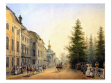 Court Departure at the Main Entrance of the Great Palace, 1852 Giclee Print by Vasili Semenovich Sadovnikov