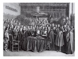 The Swearing of the Oath of Ratification of the Treaty of Westphalia at Munster, 24th October 1648 Lámina giclée por Gerard Terborch