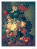 Flowers in a Vase with a Bird's Nest Giclee Print by Jan van Os