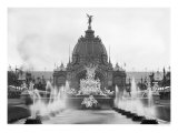 View of the Central Dome and the Fountain Coutan, Universal Exhibition, Paris, 1889 Giclee Print by Adolphe Giraudon