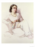 Hadice Hanim - Lady from Istanbul, 1852 Giclee Print by Amadeo Preziosi