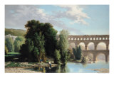 View of the Pont Du Gard, 1859 Giclee Print by Henri Marie Poinsot