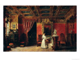Princess Marie D'Orleans in Her Gothic Studio in the Palais des Tuileries, 1836 Giclee Print by Prosper Lafaye