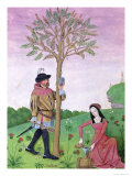 """Drawing Sap from a Tree, Illustration from the """"Book of Simple Medicines"""" circa 1470 Giclee Print by Robinet Testard"""