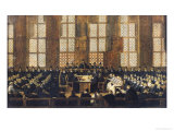 The Appeal of the Dissident Bishops at the Sorbonne, 5th March 1717 Giclée-Druck von Nicolas Vleughels