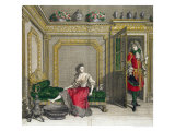 Lady Undressing for the Bath, Published circa 1688-90 Giclee Print by Jean Dieu De Saint-jean