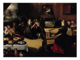 The Prodigal Son with the Courtesans Or, Interior Scene Giclee Print by Pieter Jansz. Pourbus