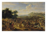 Battle Near a Bridge Giclee Print by Adam Frans van der Meulen