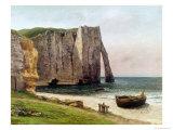 Gustave Courbet - The Cliffs at Etretat, 1869 Digitálně vytištěná reprodukce