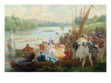 A Regatta at Asnieres During the Second Empire Giclee Print by Antony Paul Emile Morlon