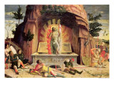 The Resurrection, Right Hand Predella Panel from the Altarpiece of St. Zeno of Verona, 1456-60 Giclee Print by Andrea Mantegna