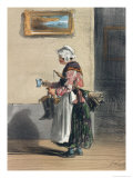 "The Cleaning Lady, from ""Les Femmes de Paris"", 1841-42 Giclee Print by Alfred Andre Geniole"