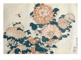 Chrysanthemums Premium Giclee Print by Katsushika Hokusai