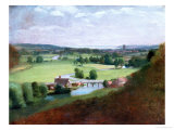 The Valley of the Stour with Dedham in the Distance, 1836-37 Giclee Print by John Constable