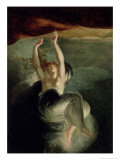 """Titiana Discovering the Ring of the Nibelung in the Opera """"The Ring of the Nibelung"""" Richard Wagner Giclee Print by Henry Fuseli"""