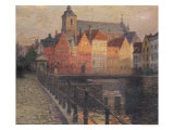 Quai de La Paille, Bruges Giclee Print by Paul Albert Steck