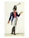 Officer of the Garde Du Corps of King Louis XVIII in 1814 Giclee Print by Pierre Antoine Lesueur