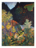 Landscape Giclee Print by Paul Gauguin