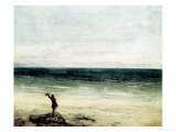 The Artist on the Seashore at Palavan Giclee Print by Gustave Courbet