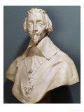Bust of Cardinal Richelieu circa 1642 Giclee Print by Giovanni Lorenzo Bernini