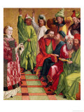 St. Stephen Before the Judges, from the Altarpiece of St. Stephen, circa 1470 Giclee Print by Michael Pacher