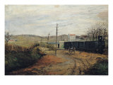 The Station at Argenteuil Giclee Print by Paul Vogler