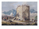 The Resistance of Forty Greek Rebels in a Tower in Thebes in 1833 Giclee Print by Georg Melchior Kraus