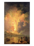 The Eruption of Mount Vesuvius in 1779, 1779-1802 Giclée-Druck von Pierre Jacques Volaire