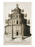 The Mausoleum of Augustus and His Family in Rome, 1575 Giclee Print by Etienne Duperac
