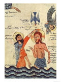 Baptism of Christ, from a Gospel, 1330 Giclee Print by  Guirages