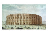 View of the Roman Amphitheatre Giclee Print by Alphonse De Seynes