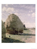 Haystacks Giclee Print by Johan Fredrik Krouthen