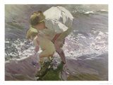 Bathing on the Beach, 1908 Giclee Print by Joaqu&#237;n Sorolla y Bastida