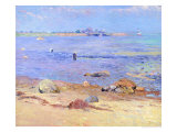 Treading Clams, Wickford Giclee Print by William James Glackens