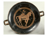 Attic Red-Figure Cup Depicting a Rider on Horseback Giclee Print by  Euphronios