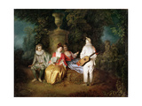 The Foursome, circa 1713 Giclee Print by Jean Antoine Watteau