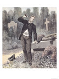 The Suicide of General Georges Ernest Boulanger in the Cemetery at Ixelles Giclee Print by Henri Meyer