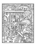 December, from the 'Almanach Des Bergers', 1491 (Xylograph) (B/W Photo) Giclee Print by Pierre Le Rouge