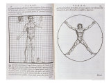 Ideal Proportions Based on the Human Body, from &quot;Della Architettura&quot;, Published 1590 Reproduction proc&#233;d&#233; gicl&#233;e par Giovanni Antonio Rusconi