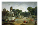 The Entrance to the Tuileries from the Place Louis XV in Paris, circa 1775 Giclee Print by Jacques Philippe Joseph Saint-Quentin