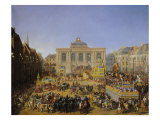 The Kermesse at Saint-Omer in 1846 Giclee Print by Auguste Jacques Regnier