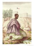 """A Senegalese Marabout, from """"Les Esquisses Senegalaises"""" by Abbe Boilat, 1853 Giclee Print by Jacques Francois Gauderique Llanta"""