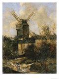 The Moulin de La Galette, Montmartre, 1861 Giclée-Druck von Antoine Vollon
