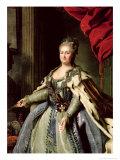 Portrait of Catherine II circa 1770 Giclee Print by Fedor Stepanovich Rokotov