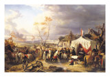 General de La Morliere Receiving the Surrender of Antwerp, 29th November 1792, 1837 Giclee Print by Felix Philippoteaux
