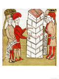 "Stonemasons, from ""Traite D'Arpentage"" by Arnaud de Villeneuve Giclee Print by Bertrand Boysset"