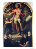 The Resurrection with Portraits of Nicolas Muller and His Family Giclee Print by Bartholomaeus Spranger