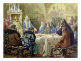 Council in 1634: the Beginning of Church Dissidence in Russia, 1880 Giclee Print by Aleksei Danilovich Kivshenko