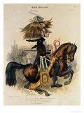 Caricature of Franz Liszt Giclee Print by Alcide Joseph Lorentz